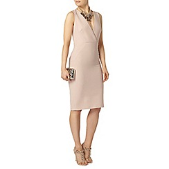 Dorothy Perkins - Blush wrap front pencil dress