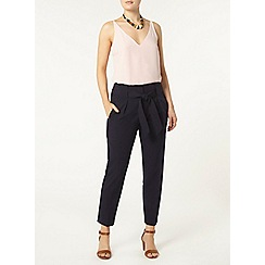 Dorothy Perkins - Navy top stitch peg trousers