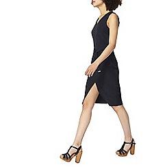 Dorothy Perkins - Navy tie waist pencil dress