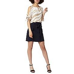 Dorothy Perkins - Navy tie waist skirt