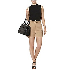 Dorothy Perkins - Stone buckle front short