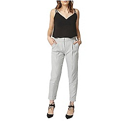 Dorothy Perkins - Ivory and grey dogtooth tapered trouser