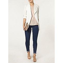 Dorothy Perkins - White long sleeve tie jacket