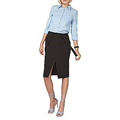 Dorothy Perkins - Black brace compact skirt