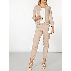 Dorothy Perkins - Stone zip dogtooth trousers