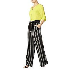 Dorothy Perkins - Black stripe wide leg trousers