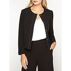 Dorothy Perkins - Black topstitch jacket