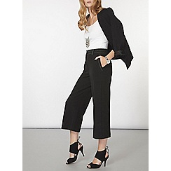 Dorothy Perkins - Black top stitch wide leg trousers