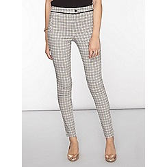 Dorothy Perkins - Tall amber check bengaline trousers
