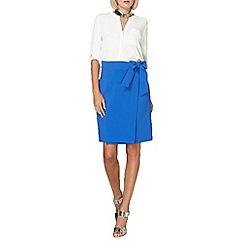 Dorothy Perkins - Cobalt tie front skirt