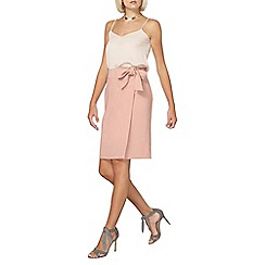 Dorothy Perkins - Blush tie front skirt