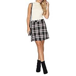 Dorothy Perkins - Red window pane check skirt