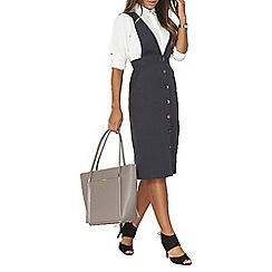 Dorothy Perkins - Navy pinstripe brace dress