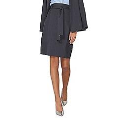Dorothy Perkins - Navy pinstripe skirt