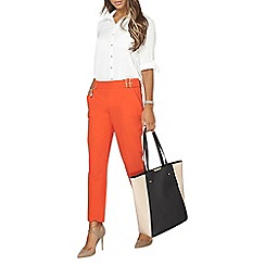 Dorothy Perkins - Red topstitch straight leg trousers