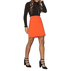 Dorothy Perkins - Red topstitch a-line skirt
