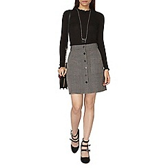 Dorothy Perkins - Red check button skirt