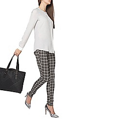 Dorothy Perkins - Tall grey dogtooth bengaline trousers