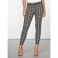 Dorothy Perkins - Grey dogtooth bengaline trousers