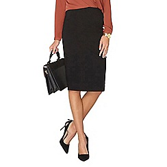 Dorothy Perkins - Black bengaline skirt