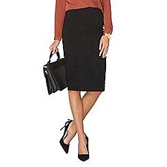 Dorothy Perkins - Black bengaline skirt