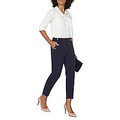 Dorothy Perkins - Navy button front straight leg trousers