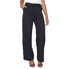 Dorothy Perkins - Navy pinstripe wide leg trousers