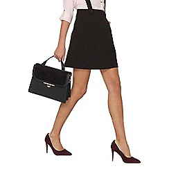 Dorothy Perkins - Black braces mini skirt