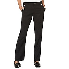 Dorothy Perkins - Black button bootcut trousers