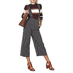 Dorothy Perkins - Navy crop brace trousers