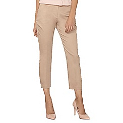 Dorothy Perkins - Stone metal tab cotton sateen trousers