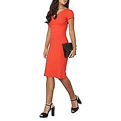 Dorothy Perkins - Red textured bengaline dress