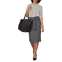 Dorothy Perkins - Grey cross hatch skirt