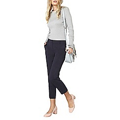 Dorothy Perkins - Navy double loop ankle grazer trousers
