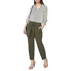 Dorothy Perkins - Khaki tapered trousers