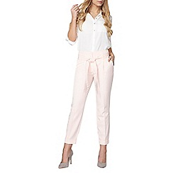 Dorothy Perkins - Blush top stitch tie tapered trousers