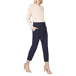 Dorothy Perkins - Navy tapered trousers
