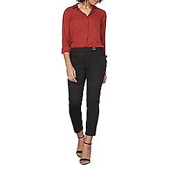 Dorothy Perkins - Black crop cotton sateen trousers