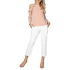 Dorothy Perkins - White circle cotton sateen trousers