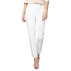 Dorothy Perkins - Tall white crop cotton sateen trousers