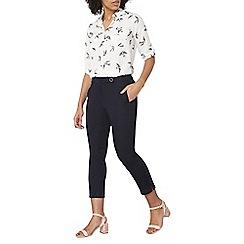 Dorothy Perkins - Navy crop cotton sateen trousers