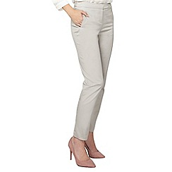 Dorothy Perkins - Tall grey crop cotton sateen trousers