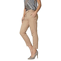 Dorothy Perkins - Stone circle cotton sateen trousers