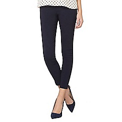 Dorothy Perkins - Navy pull on bengaline trousers