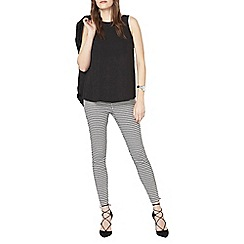 Dorothy Perkins - Grey column geo bengaline trousers