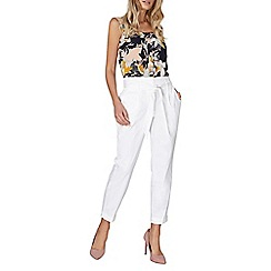 Dorothy Perkins - White cotton tapered trousers