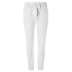 Dorothy Perkins - Tall white cotton tapered trousers