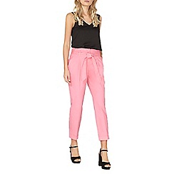 Dorothy Perkins - Pink cotton tapered trousers