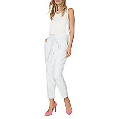 Dorothy Perkins - Stripe cotton tapered trousers