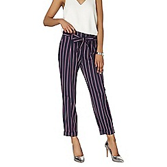 Dorothy Perkins - Navy and pink stripe trousers